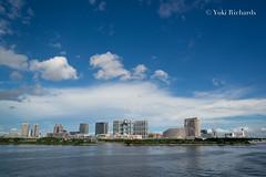 Odaiba and Fuji TV (yukirichards) Tags: waterfront odaiba tokyo japan nikon d610 harbour ship ogasawaramaru fujitv buildings architecture