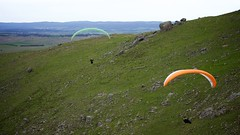 Johno and Bruce2 (overflow50) Tags: canberra paragliding paraglider spring springhill sky clouds
