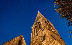 Holy Trinity & St Leonards Church - Bengeo, Hertford (Demographik) Tags: hertford herts church night stars tower towers sky starlight history bengeo colour color trees graveyard moonlight skyatnight local skyline horizon