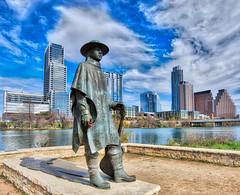 Stevie Ray Vaughan Statue, Austin TX (sbmeaper1) Tags: hdr srv stevie ray vaughan austin