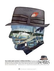 1965 Dobbs Aruba Blue ad (Tom Simpson) Tags: dobbs fedora fashion hat 1965 1960s dobbsarubablue vintage ad ads advertising advertisement vintagead vintageads