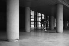 Rémi - Boned Ollie (Zigloule) Tags: street blackwhite skateboard 1685mm d7000