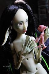 Mouldy Fairy meet Cramb the Goblin (Vali.Tox.Doll) Tags: fleur de doll artist unique cast bjd par ludivine espoir woodolls geslot