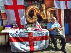 This is England. (scott.simpson99) Tags: england shop person nikon flag derbyshire unionjack glossop stgeorgesday ukip iphone5