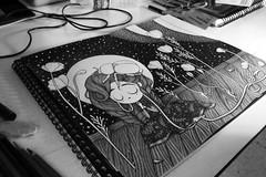 WIP illustration (Anita Mejia) Tags: blackandwhite illustration pencil ink paper drawing draw anitamejia