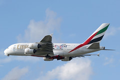 """A6-EEN Airbus A.380-861 Emirates """"England 2015"""" (pslg05896) Tags: heathrow emirates airbus a380 lhr egll england2015 a6een"""