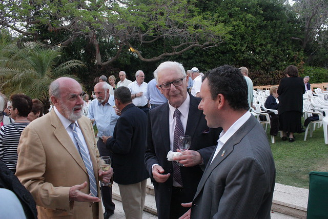 Ambassador Gould (R) and IBCA Vice Chairman Sam Lewis (C) at the event