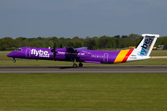 flybe dash 8 (Martyn Cartledge / www.aspphotography.net) Tags: aerodrome aeroplane air aircraft airline airliner airplane airport aviation civilairline civilairliner dhc8 flight fly flybe flying gecoh jet man manchester plane purple runway transport uk wwwaspphotographynet asp photography aspphotography martyn cartledge de havilland dash 8 flywinglets