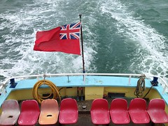 Ferry to Brownsea (kevinpower1) Tags: red sea ferry jack island flag seat union dorset scouts isle poole brownies brownsea