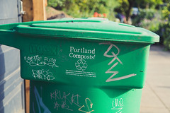 Portland Composts! (Tony Webster) Tags: oregon portland graffiti unitedstates compost buckman composting graffititags compostbin seportland southeastportland greenbin 14thavenue greengarbagecan portlandcomposts se14thavenue toterincorporated greencompostcan corg15q2