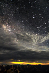 Falling stars over the North Rim (Joel Quimpo) Tags: clouds grandcanyon northrim meteors milkyway