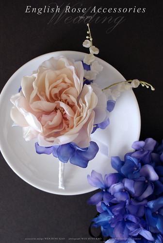 訂製系列-英倫玫瑰新郎胸花