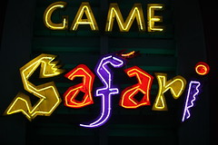 Safari Game (DigiPub) Tags: game night neon outdoor safari