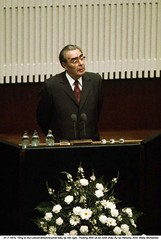 WL001053 (ngao5) Tags: people male men history finland one hall helsinki europe european adult furniture podium soviet conventioncenter prominentpersons government conference leader scandinavia russian speech premier communications oneperson finlandiahall concerthall assemblyhall uusimaa politicalandsocialissues middleaged headofstate leonidbrezhnev governmentofficial politicalleader caucasianethnicity summitmeeting peaceconference easterneuropeandescent easterneuropeanculture