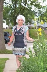 Public Exposure (Laurette Victoria) Tags: woman silver necklace dress sidewalk milwaukee laurette