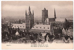 Ypres Before the Great War (pepandtim) Tags: postcard old early nostalgia nostalgic 42ybt53 ypres before great war carte postale nd phot antony january 1913 cathedral bombardment