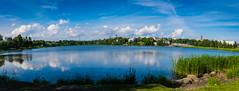 DSC_2178-Pano (mihail.suontaus) Tags: d7100 nikon sigma helsinki finland water linnanmki blue green panorama cloud clouds mirror bird