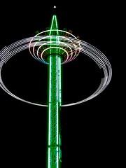 All The Fun Of Walmer Fair (messenger.rebecca) Tags: fun fair funfair walmer kent light night photography swing bright green exposure