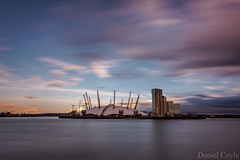 O2 Arena (Daniel Coyle) Tags: uk longexposure england blur london water thames clouds reflections river nikon o2 arena riverthames dlr antonygormley londonskyline quantumcloud eastindiadlr eastindia d7100 o2arena danielcoyle nikond7100