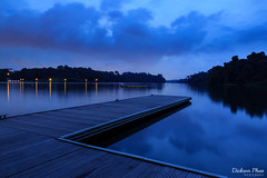 Macritchie Reservoir at blue hour (gunman47) Tags: 2016 30 asia macritchie manfrotto sg singapore blue cloud clouds evening exposure f16 hour jetty landscape long night photography platform reservoir sec second seconds sky thirty tree tripod weather outdoor