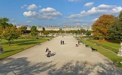 Paris / Tuileries gardens (Pantchoa) Tags: paris france paysage jardindestuileries nuages nikon d7100 1685 alle arbres faades