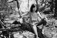 JR1-E024 (David Swift Photography Thanks for 16 million view) Tags: davidswiftphotography portraits portraitsinthewoods portraitsofwomen forrest woods tattoos 35mm film ilfordxp2 nikonf2