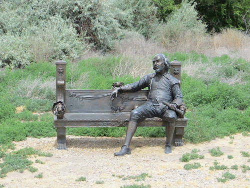 Bronze Shakespeare on a bench