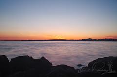 Grand Lake Sunset (IRick Photography) Tags: grand lake st marys lakes water wave waves sunset sun set setting sky skies cloud clouds cloudy clouded ohio state park rock rocks rocky shore shoreline landscape horizon