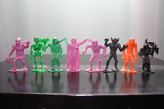 1960's MPC Monsters (Donald Deveau) Tags: mpc monsters plastic toy vintagetoy werewolf skeleton witch grimreaper executioner vampire mummy frankenstein universalmonsters