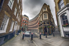 London Side Street (Digital Biology) Tags: fisheye london street