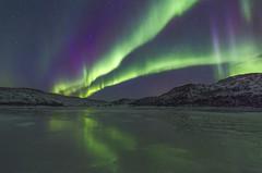 Norway (peterspencer49) Tags: nightphotography winter reflection norway reflections aurora northernlights tromso nordlys aurorasborealis peterspencer peterspencer49