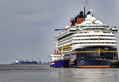 Another Bit of Magic on the River Mersey (Elaine 55.) Tags: liverpool containership disneymagic rivermersey