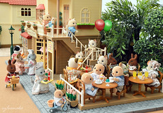 Sylvanian Families - Bakery & Cafe shop (Sylvanako) Tags: sylvanian families calico critters cafe bakery cake sweets pastries food rement miniature toys figures life house dollhouse shop family coffee