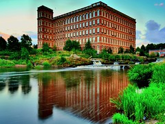 full reflection of old thread mill on Hamills (junekir) Tags: paisley hamills mill river refelection