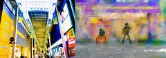 Kichijōji (Kai-Ming :-))) Tags: kichijoji shoppingstreet tokyo kmwhk kaiming japan pedestrian sony creative digitalart collage streetband streetmusician street musashino art digital yellow shop outdoor coveredstreet covered