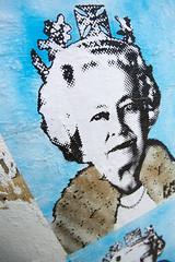 hipster-hunting_21.04.2013_0231 (patrick h. lauke) Tags: endless graffiti london pasteup queen queenelizabethii shoreditch streetart england unitedkingdom gb