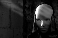 - Silenced even silence - (swaily  Claudio Parente) Tags: bn nikon maschera nikond300 d300 swaily