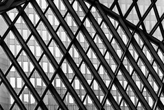 Seattle Central Library DSC03993-Edit (nianci pan) Tags: abstract seattle centrallibrary curve line pattern geometry geometric city cityscape landscape urban nianci pan sony sonyalpha dslr sonyphotographing architecture building reflection