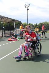 Emma tennis (varietystl) Tags: tennis wheelchair summercamp afos legbraces afobraces tracheostomy