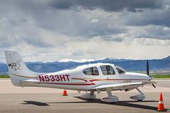 Cirrus SR-22, Clouds & Snowcapped Mt. Evans (jhooten1973) Tags: aircraft cirrus generalaviation cirrussr22 kbjc