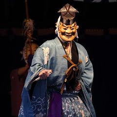 Saga Dainenbutsu Kyogen (Teruhide Tomori) Tags: japan kyoto mask performance event   kimono tradition  japon kyogen