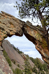 The Royal Arch (-blaine-) Tags: mountains colorado arch flat hiking royal boulder co irons chautauqua