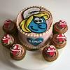Smurfette Birthday (Sugar Daze) Tags: mushroom cake cupcake smurfs gateau smurfette schtroumpfette lesschtroumpfs pariscake