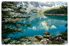 Moraine Lake (lienhp) Tags: blue lake snow nature water landscape scenery moraine naturesfinest specialpicture infinestyle theunforgettablepictures vosplusbellesphotos imagesforthelittleprince superstarthebest yourwonderland