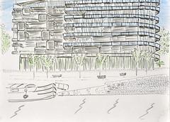 immeuble Jean Nouvel by Guenael -27mai2015 (croquisdumercredi) Tags: sketch rennes croquis
