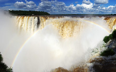 Panorama of Iguazu Falls (Garganta del Diablo) (Gregor  Samsa) Tags: fall water argentina del waterfall rainbow devils falls waterfalls massive diablo throat iguazu iguaz devilsthroat iguau garganta gargantadeldiablo iguazufalls iguaufalls iguazfalls iguazuriver