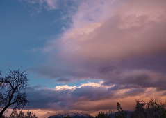 Storm over the Andes (Felipe Seplveda R.) Tags: blue sunset sky nature azul clouds landscape atardecer colours open sony sigma bluehour 1020 ocaso a77ii