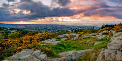 Freezing Sun (CAN Photo) Tags: lowangle warm vivid dalkey sunset ireland goldenhour intothesun dublin outdoors colours panorama landscape freezingsun dublinbay codublin