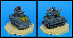 The Wipple Cripple Anti-Alien Defense System. (Karf Oohlu) Tags: lego moc microscale military truck defensesystem antialien crutch