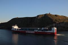 Oceanex Connaigra (daveg1717) Tags: oceanexconnaigra thenarrows signalhill cabottower stjohnsharbour stjohns newfoundlandlabrador ships